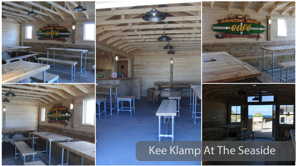 tables benches and stools made with kee klamp