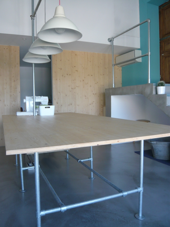 La table design industriel
