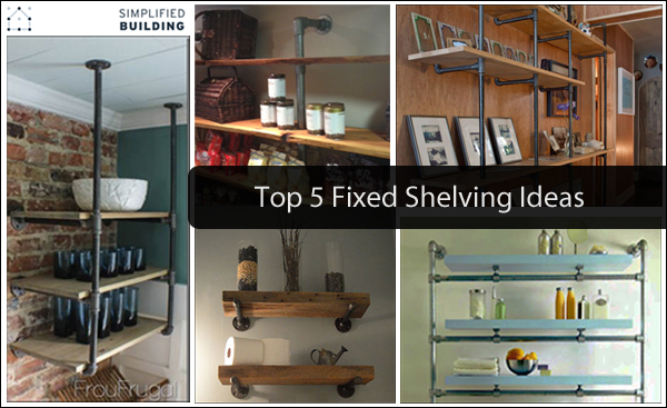 top 5 DIY shelving ideas