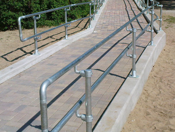 ADA Steel Pipe Railing
