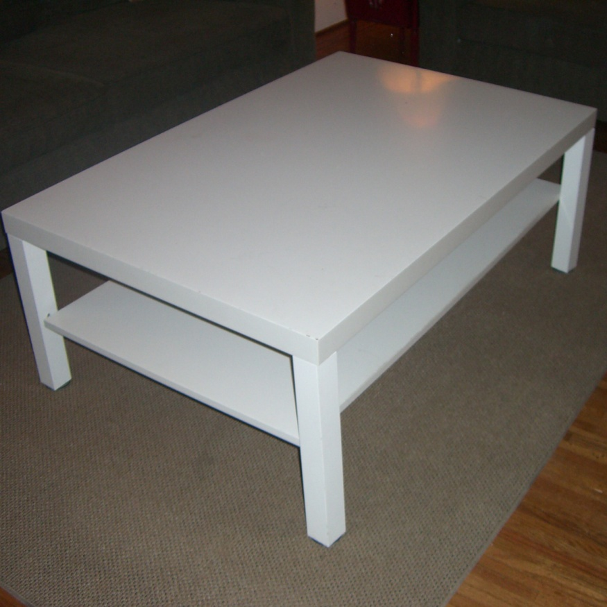 Kee klamp coffee table ikea hack project simplified building - Table basse blanche ikea ...