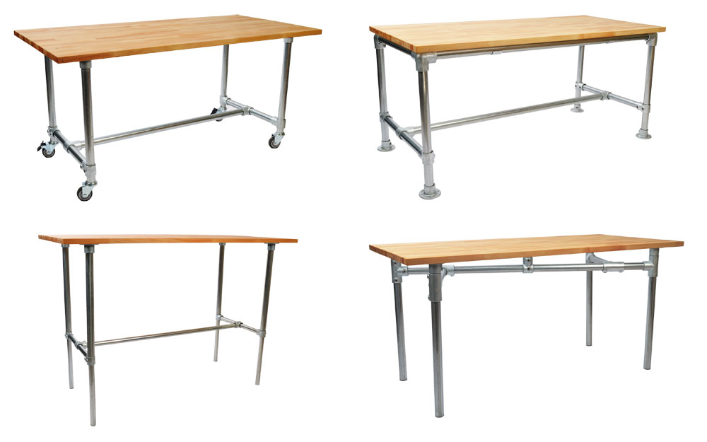 Build Your Own Industrial Desk With Simple Table