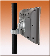 Direct Pole Monitor Mount - Silver