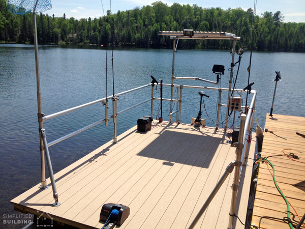 Pontoon boat restoration and railing upgrade