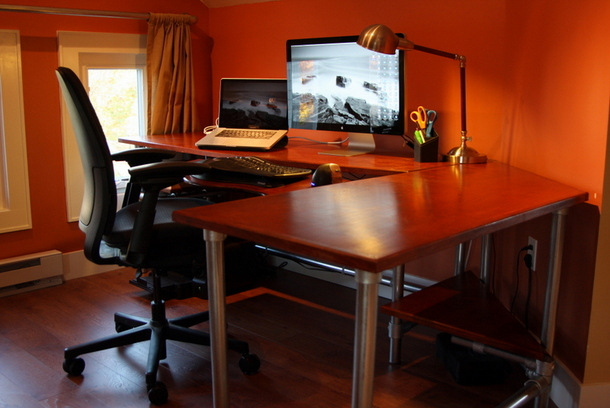 diy ergonomic computer desk revisited