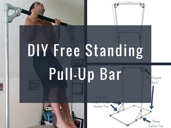 Diy free standing pull up bar for Homemade pull up bar galvanized pipe