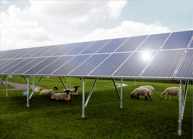 Ground Mounted Solar Panel Support Structure