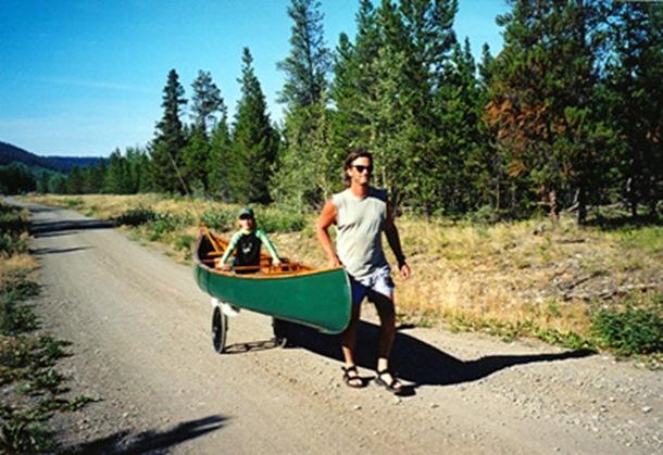 Kee klamp canoe cart for Easy entry cart plans