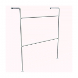 Wall Mounted Retail Clothing Rack - Storage