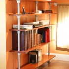 Build a Pole Mounted Floating Bookshelf