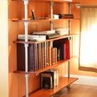 Floor-Ceiling Floating Bookshelf