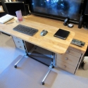 Sit-Stand Adjustable Height Computer Desk