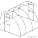 PVC Arched Greenhouse