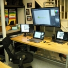 Pole Mounted Monitor Desk