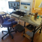 Reclaimed Wood Pipe Desk with Side Shelves [Desk Week]