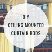 DIY Ceiling Mounted Curtain Rods (with Step-by-Step Instructions)