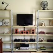 DIY Entertainment Center with Bookshelves