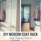 DIY Modern Coat Rack with Floating Shelves