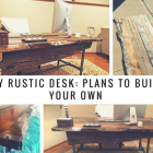 DIY Rustic Desk: Plans to Build Your Own