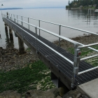 Side Mounted Dock Railing with Built-In Gate