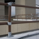 Rooftop Parapet Offset Pipe Railing [Example Installation]