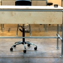 Sit / Stand Work Desk for the Grain & Mortar Studio