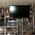 Space Saving Stairway Shelving and TV Mounting System