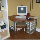 Corner Desk - Plywood, Pipe & Fittings