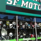Retail Display for Motorcycle Helmets