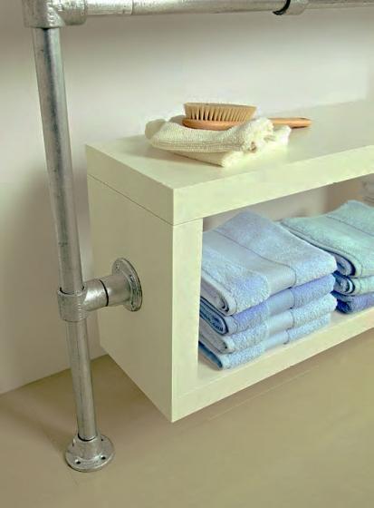 Original DIY Lite Double Bathroom Storage With EasyBuild Box Shelves