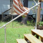 A Simple Handrail for Stairs on Porch or Deck