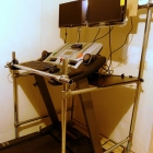 Add a Desk to a Treadmill Using Kee Lite Fittings