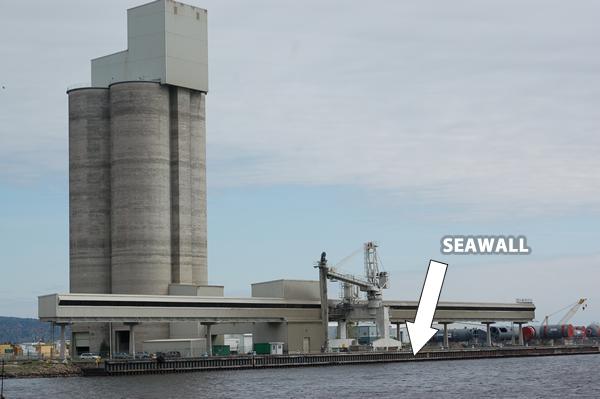 Projet Duluth Seawall – Etude sur l'utilisation de fixations Box Bolt sous l'eau