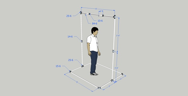Pull up bar adjustable and portable for Homemade pull up bar plans