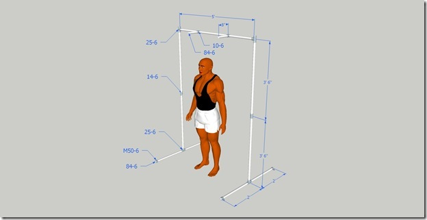 Backyard Pull Up Bar Plans : Both designs are adjustable in height and in horizontal placement of