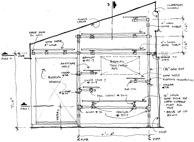 Wall Mounted Space Saving Studio Workstation