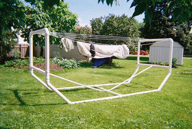 Standalone Pvc Clothesline Project