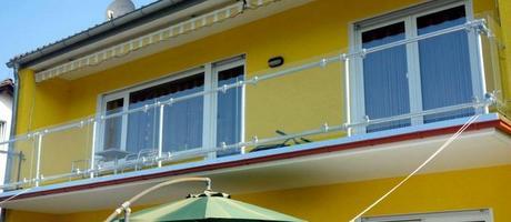 Glass Panel Balcony Railing - Simple, Elegant, and Safe Image
