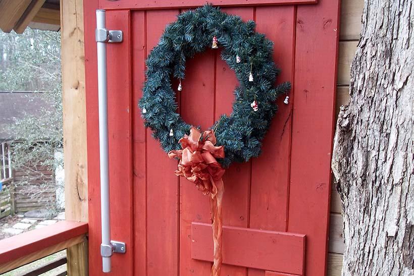Custom Barn Door for DIY Tree House