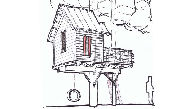 """Sky Barn"" Drawing"