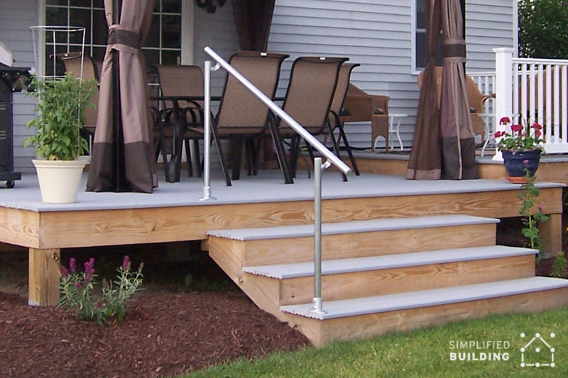 Another Popular Application For Our Handrail Kits Is The Back Deck.  Pictured Above Is The Gorgeous Home Of One Of Our Own Simplified Building  Team Members, ...