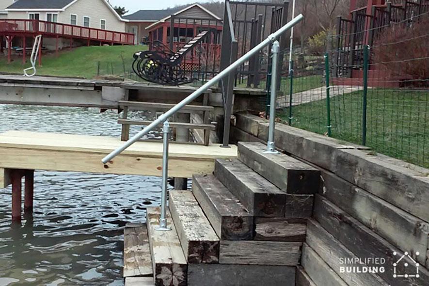 Handrail for Lakefront Steps