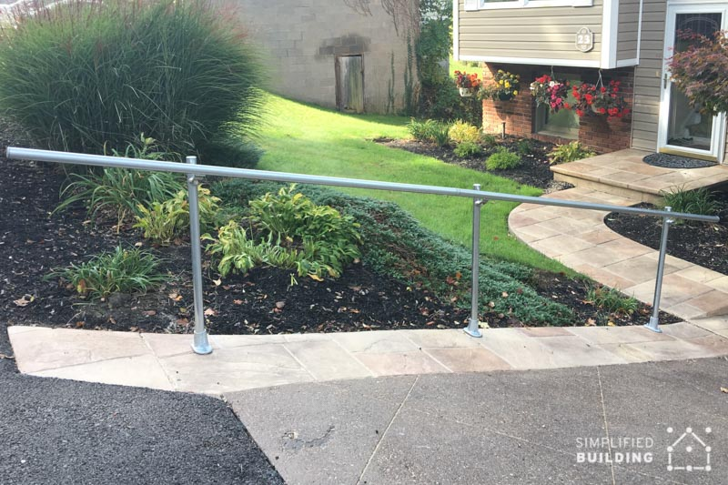 Exterior Handrail for Sloped Driveway