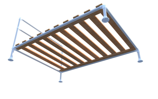 Pipe Bed Frame - Underneathe View