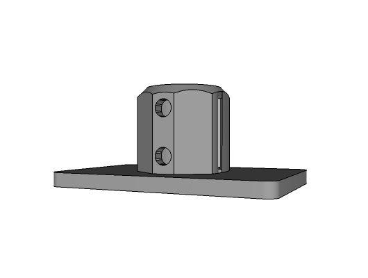 L148 - Socle rectangulaire destiné à de lourdes charges